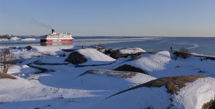 Cruise ship Gabriella leaves from Helsinki Royalty Free Stock Photos