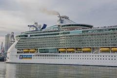 Cruise Ship in Galveston Harbour royalty free stock photos