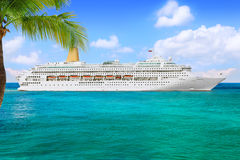 Cruise Ship. GEORGE TOWN, GRAND CAYMAN ISLAND - FEBRUARY 26, 2013: P&O Cruise Line, cruise ship Oriana sails from port George Town on February 26, 2013 Stock Photo
