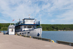 Cruise ship Georgian Queen at Penetanguishene pier Stock Images