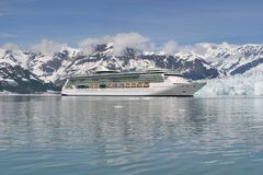 Cruise Ship at Glacier bay Royalty Free Stock Photography
