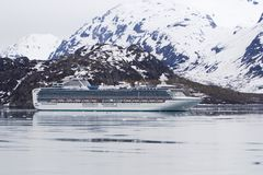 Cruise Ship in Glacier Bay Ala Stock Images