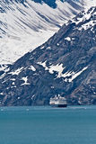 Cruise Ship in Glacier Bay, Alaska Stock Photography