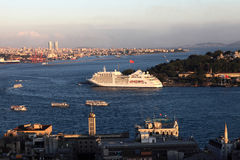 Cruise ship in Golden Horn Stock Images