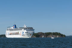 Cruise ship Grand Mistral Stockholm archipelago Royalty Free Stock Images