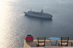 Cruise ship in Greece Royalty Free Stock Photos