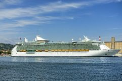 Cruise ship in the gulf of la spezia Stock Image
