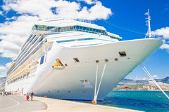 Cruise ship in harbor Royalty Free Stock Image