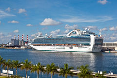 Cruise ship in the harbor Stock Photo