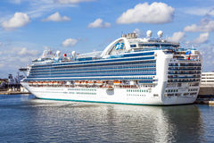 Cruise ship in the harbor Stock Image