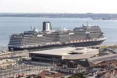 Cruise ship in a harbour Royalty Free Stock Image