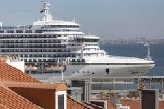 Cruise ship in a harbour Stock Photos