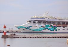 Cruise ship in harbour of Sochi Royalty Free Stock Photo