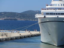Cruise ship in the harbour of Zadar Stock Photo