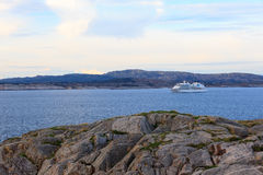Cruise ship heading out into the North Sea. Norway Stock Image