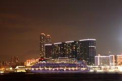 Cruise ship in Hong Kong Stock Photos