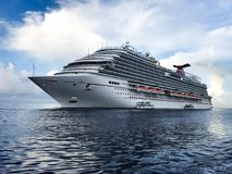 Cruise Ship. Huge Cruise Ship on side royalty free stock photography