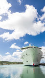 Cruise Ship Hull Under Nice Skies Stock Image