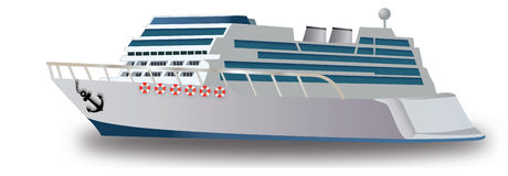 Cruise Ship, illustration Royalty Free Stock Image