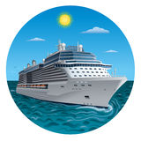 Cruise ship. Illustration of the cruise ship vector illustration