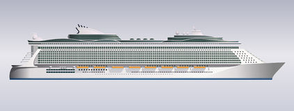 Cruise ship illustration vector Royalty Free Stock Photography