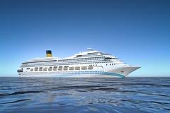 Cruise ship. An image of a nice ocean cruise ship Stock Images