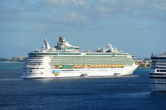 Cruise Ship Independence of the Seas in Cayman Islands Royalty Free Stock Photography