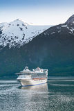 Cruise Ship in Inside Passage Stock Images