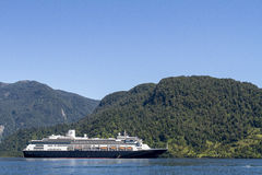 Cruise Ship Inside Passage Of The Chilean Fjords Stock Photos