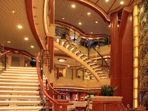 Cruise ship interior. Modern cruise ship interior in the evening Stock Image