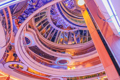 Cruise Ship Interior. Interior ceiling rotunda of a modern cruise ship Stock Images