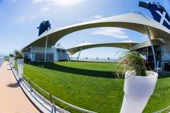 Cruise ship interior. Luxury cruise ship interior. Lawn Club Royalty Free Stock Photos