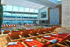 Cruise ship interior Stock Images