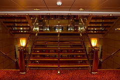 Cruise ship interior staircase Royalty Free Stock Image