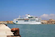 Cruise ship Island Escape Royalty Free Stock Images