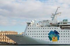 Cruise ship Island Escape Royalty Free Stock Photos