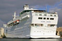 Cruise ship Island Escape Royalty Free Stock Image