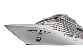 Cruise ship isolated on white. Cruise ship isolated on the white Stock Image