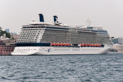 Cruise ship in Istanbul Royalty Free Stock Photos