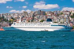 Cruise Ship in Istanbul Royalty Free Stock Photo