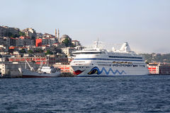 Cruise ship, Istanbul - Turkey Stock Photo