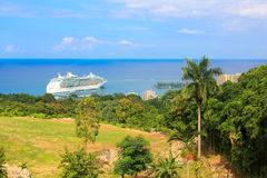 Cruise ship in Jamaica Royalty Free Stock Photos
