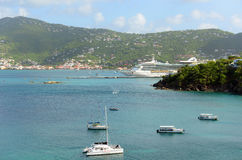 Cruise Ship Jewel of the Seas in Saint Thomas Stock Photography