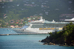 Cruise Ship Jewel of the Seas in Saint Thomas Stock Images