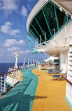 Cruise ship jogging track Stock Photography