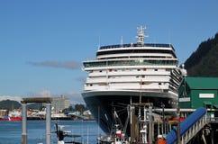 Cruise ship in Juneau Alaska Stock Photo