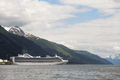 Cruise Ship in Juneau Stock Images