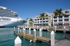 Cruise Ship in Key West, Florida Royalty Free Stock Photography