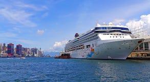 Cruise ship at kowloon, hong kong Royalty Free Stock Images