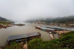 Cruise ship in Laos Pakbeng Stock Photography